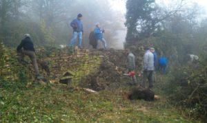 2012-11-20 (2)  le chantier des Cabornes de la Marie et de la Cave