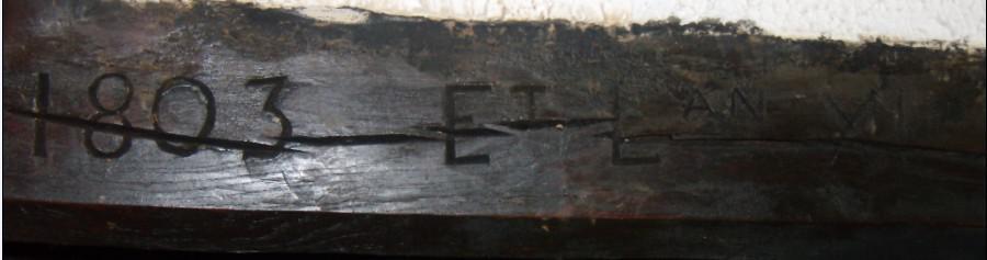 Maison Imbert - Four à pain - 1803 et l'an XI - réd
