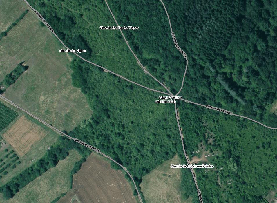 Plan de situation (vue aérienne geoportail.fr)