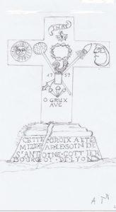 Croix du Mont Thou - Croquis - Mars 2015