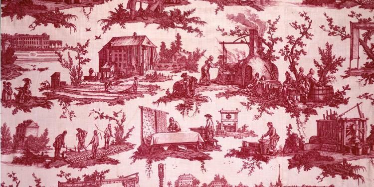 Les travaux de la Manufacture - JB Huet - 1784